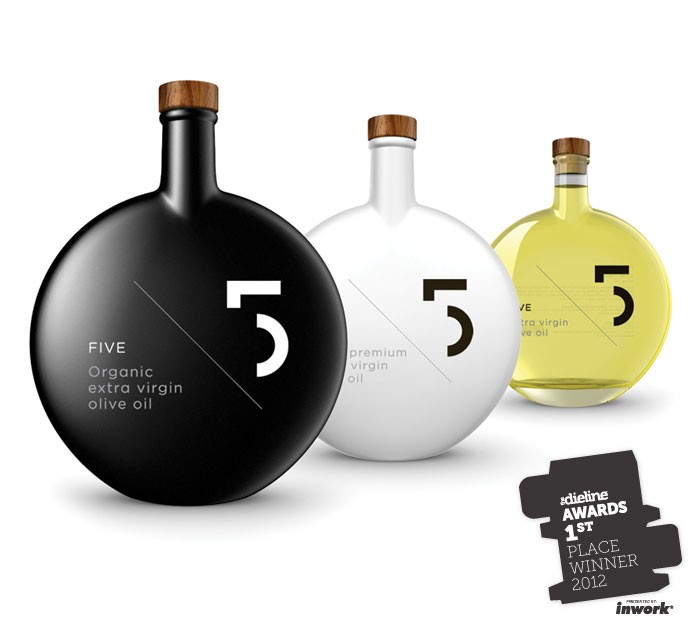 FIVE Olive Oil - the dieline awards