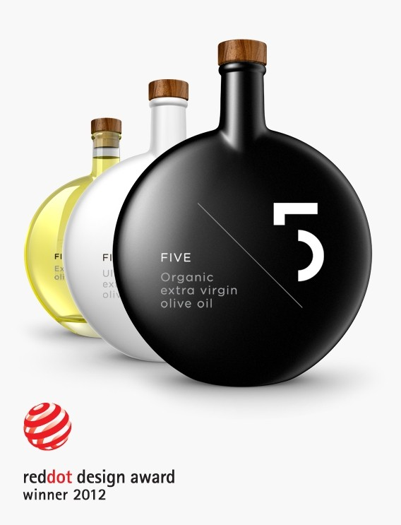 FIVE Olive Oil - 2012 Red Dot awards