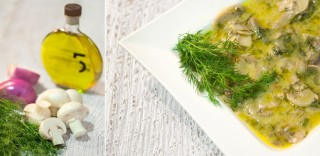 Mushroom soup with dill & 5 Olive Oil