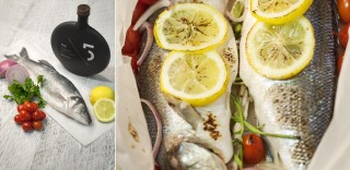 Fish in Parchment paper with 5 Olive Oil